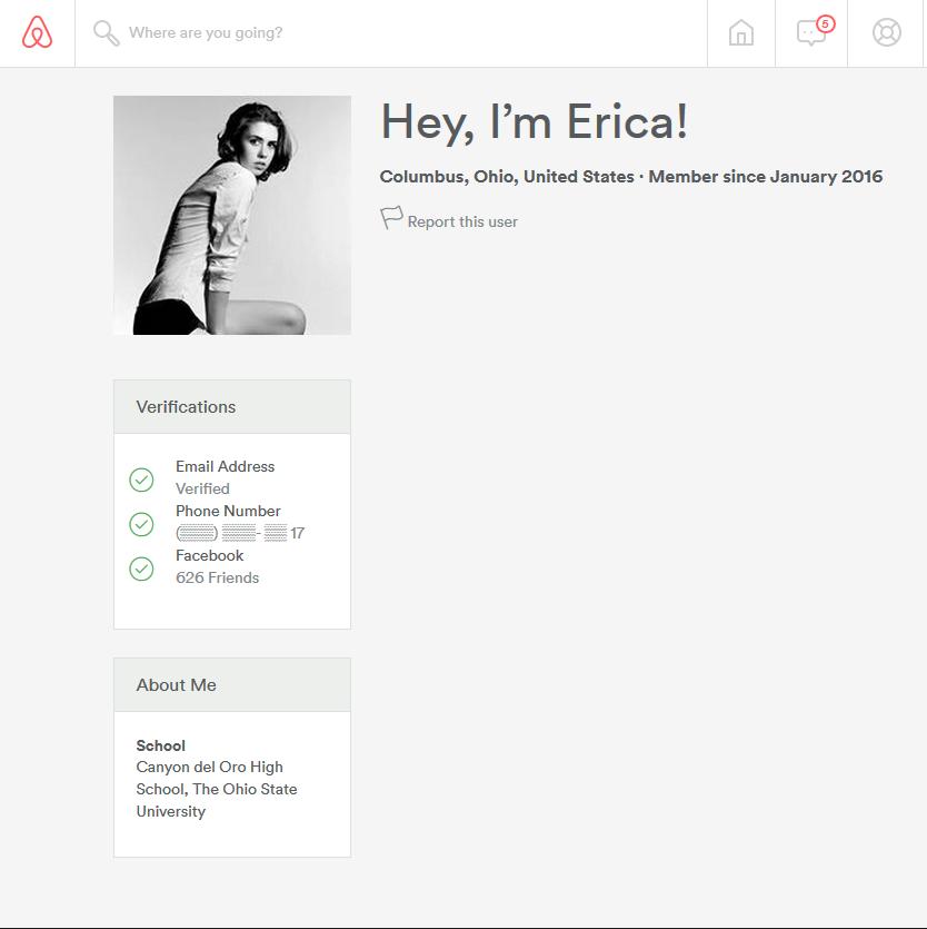 erica's blank profile